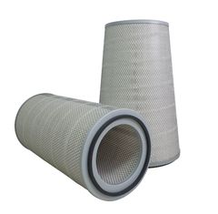 Conical Gas Turbine Air Inlet Filters , Galvanized End Cap Composite Air Filter