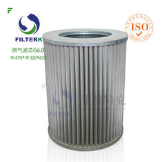 G6.0 Circle Industrial Gas Filter , Gas Gathering Station High Pressure Filter