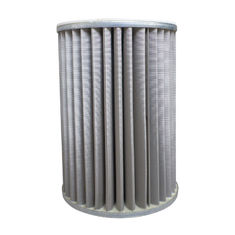 G2.5 Gas Filter Element 50 Micron Accuracy With Galvanized End Cap