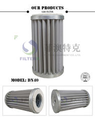 Stainless Steel Mesh Gas In Air Filter , Pleated DN40 Natural Gas Line Filter