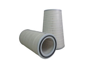 Cylindrical Canister Gas Turbine Air Filter , Cellulose Activated Carbon Filter