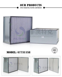 Steel Frame Panel Pleated Air Filters First Stage Polyester Material