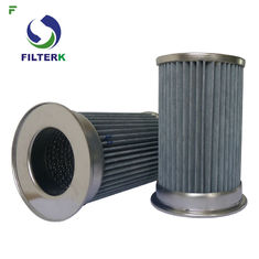 Pleated Vacuum Pump Filter Element , Clean Side Removal Vacuum Pump Inlet Filter